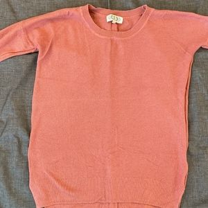 Pink Rose Dusty Pink Drop Shoulder Sweater